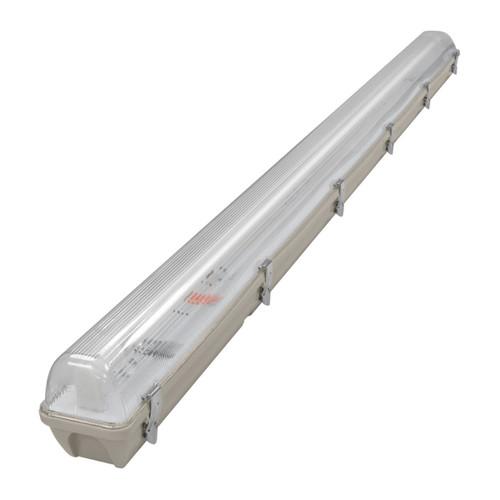 Phoebe LED 5ft Single IP65 Fitting Manto (LED T8 Ready) Non-Corrosive Image 1
