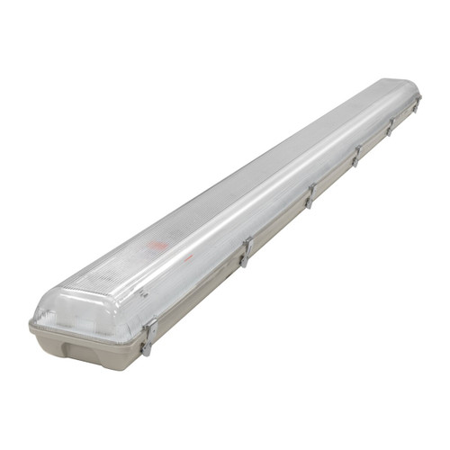 Phoebe LED 6ft Twin IP65 Fitting Manto (LED T8 Ready) Non-Corrosive Image 1