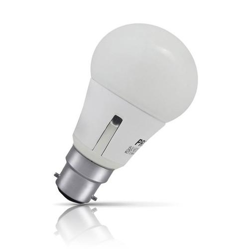 Prolite LED Sensor Light GLS 6.5W B22 Dusk to Dawn Warm White Opal Image 1
