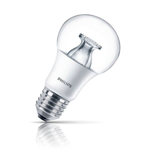 Philips Dimmable LED DimTone GLS 8.5W E27 Master Warm White Clear Image 1
