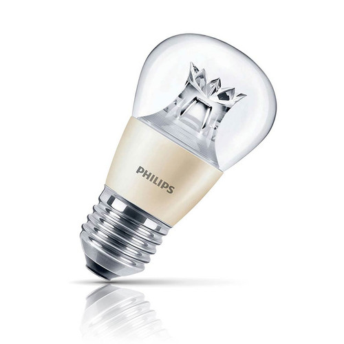 Philips Dimmable LED Golfball 4W E27 LEDluster Warm White Clear Image 1