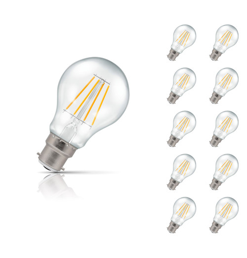 Crompton Lamps Dimmable LED GLS 5W B22 Filament (10 Pack) Warm White Clear (40W Eqv) Image 1