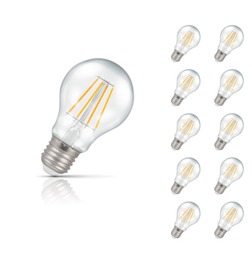 Crompton Lamps Dimmable LED GLS 5W E27 Filament (10 Pack) Warm White Clear (40W Eqv) Image 1