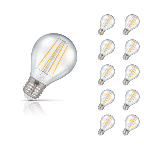 Crompton Lamps LED Golfball 4W E27 Filament (10 Pack) Warm White Clear (45W Eqv) Image 1