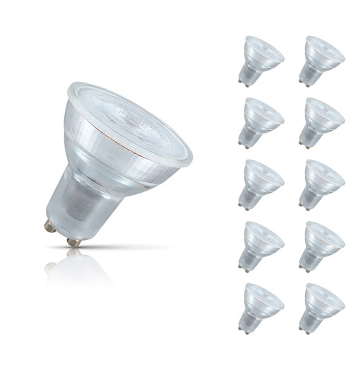 Crompton Lamps LED GU10 Spotlight 4.5W (10 Pack) Warm White 35° (50W Eqv) Image 1