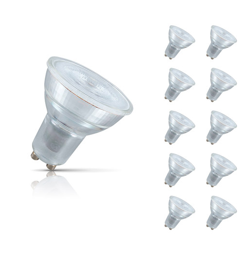 Crompton Lamps LED GU10 Spotlight 4.5W (10 Pack) Cool White 35° (50W Eqv) Image 1