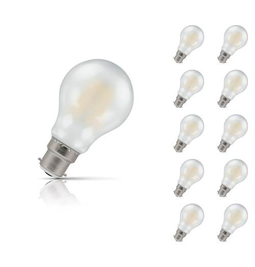 Crompton Lamps Dimmable LED GLS 7.5W B22 Filament (10 Pack) Warm White Pearl (60W Eqv) Image 1