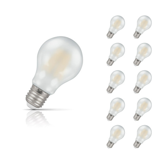 Crompton Lamps Dimmable LED GLS 7.5W E27 Filament (10 Pack) Warm White Pearl (60W Eqv) Image 1
