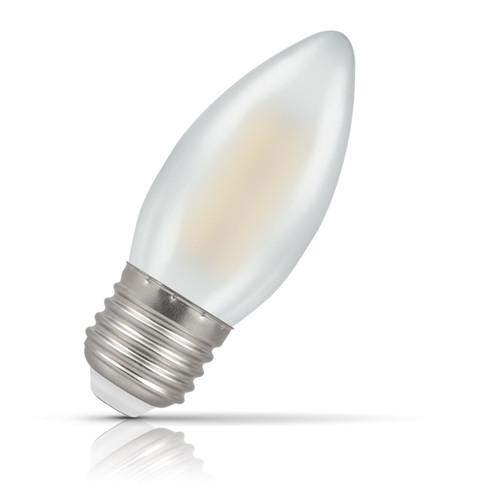 Crompton Lamps LED Candle 4W E27 Filament Warm White Pearl (40W Eqv) Image 1