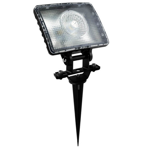 Phoebe LED Garden Spike 10W Terra Cool White 60° Prismatic Black IP65 Image 1