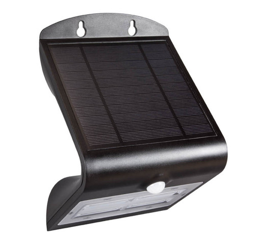 Phoebe LED Solar Wall Light PIR Sensor Daylight Black IP65 Image 1