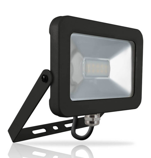 Phoebe LED Floodlight 10W Atlas Cool White 110° Black IP66 Image 1