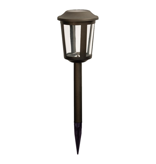 Duracell Solar LED Solar Path Light Cool White Charcoal Brown Image 1