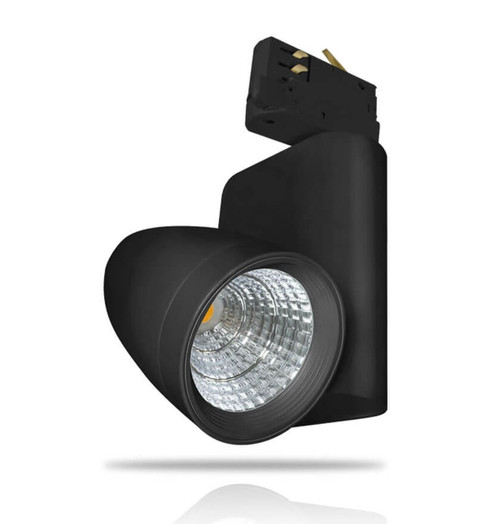 Phoebe LED Track Light 12W Ares Cool White 30° Black Image 1