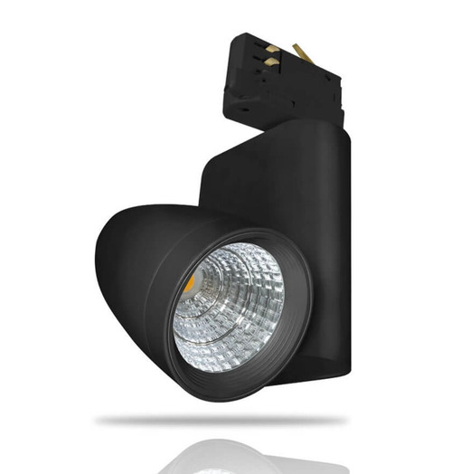 Phoebe LED Track Light 12W Ares Warm White 30° Black Image 1