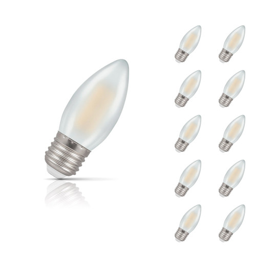 Crompton Lamps Dimmable LED Candle 5W E27 Filament (10 Pack) Warm White Pearl (40W Eqv) Image 1