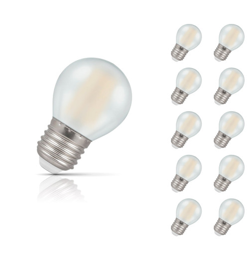 Crompton Lamps Dimmable LED Golfball 5W E27 Filament (10 Pack) Warm White Pearl (40W Eqv) Image 1