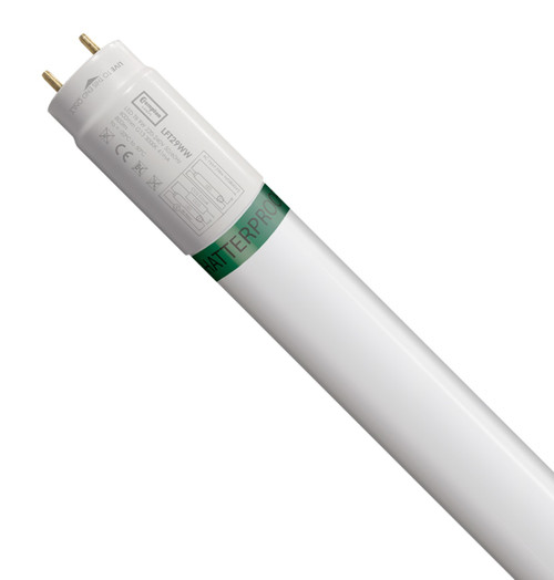 Crompton Lamps LED 2ft T8 Tube 9W Food Safe Shatterproof Warm White Image 1