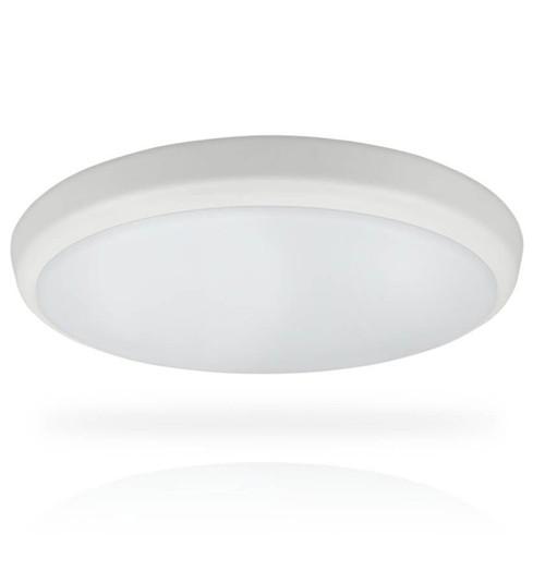 Phoebe LED Bulkhead 18W Melana Sensor Tri-Colour CCT 120° White IP54 Image 1