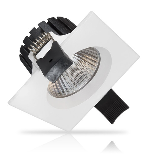 Phoebe LED Dimmable LED Downlight 8W Astra Square Warm White 24° White IP54 Image 1