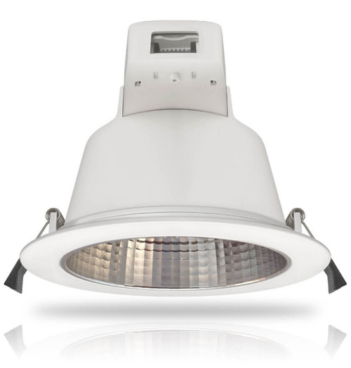 Phoebe LED Dimmable LED Downlight 25W Plato Tri-Colour CCT 90° White IP54 Image 1