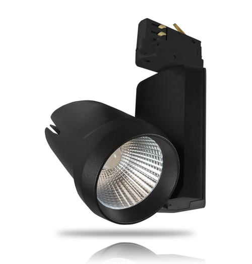Phoebe LED Dimmable LED Track Light 25W Alecto Cool White 24° Black Image 1