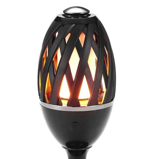 Phoebe LED Garden Spike Flame Light Atmosphere Black Image 1
