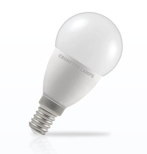 Crompton Lamps Dimmable LED Golfball 5.5W E14 Daylight Opal (40W Eqv) Image 1