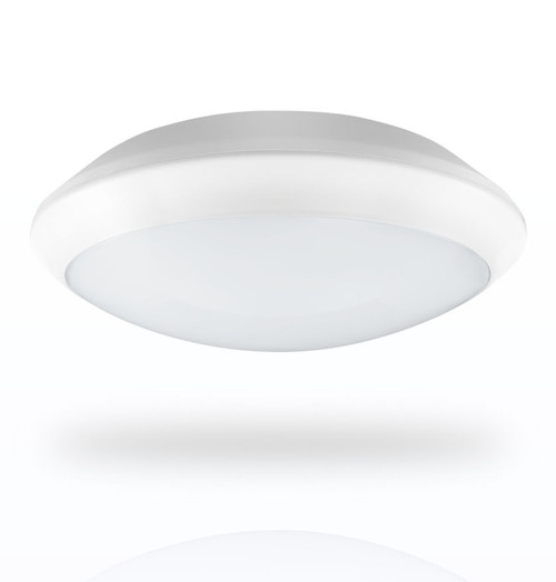 Phoebe LED Bulkhead 15W Melana Emergency Cool White 110° Diffused White IP66 Image 1