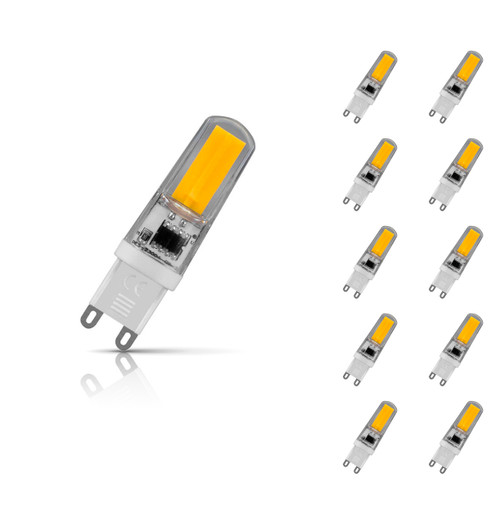 Crompton Lamps Dimmable LED Sunset Dim G9 Capsule 3W (10 Pack) Warm White Clear (30W Eqv) Image 1