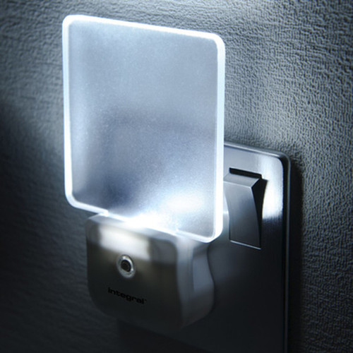 Integral LED Night Light Auto Sensor Cool White White Image 1
