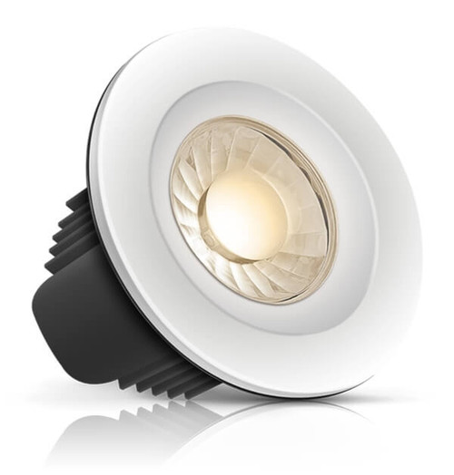 Phoebe Dim LED Downlight 10W Spectrum Orion Tuneable White 40° White, Chrome and Brushed Nickel IP65 Image 1