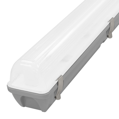 Phoebe LED 4ft IP65 Fitting 20W Manto 2 Cool White 120° Non-Corrosive Image 1