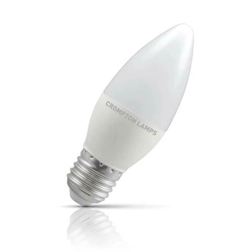 Crompton Lamps LED Candle 5.5W E27 Cool White Opal (40W Eqv) Image 1