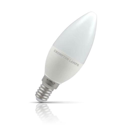 Crompton Lamps LED Candle 5.5W E14 Daylight Opal (40W Eqv) Image 1