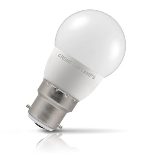Crompton Lamps LED Golfball 5.5W B22 Warm White Opal (40W Eqv) Image 1
