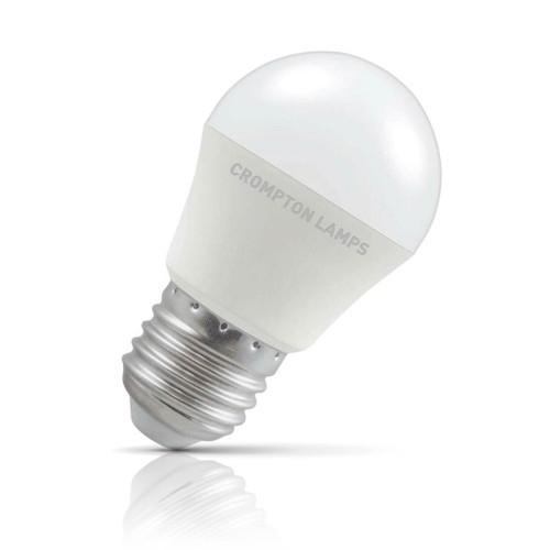 Crompton Lamps LED Golfball 5.5W E27 Warm White Opal (40W Eqv) Image 1