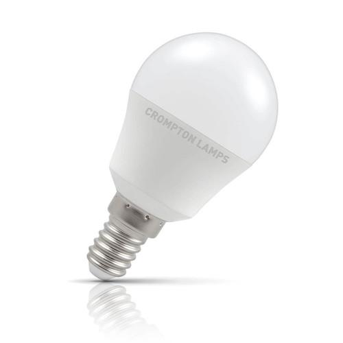 Crompton Lamps LED Golfball 5.5W E14 Warm White Opal (40W Eqv) Image 1