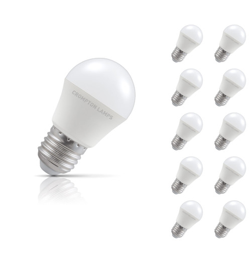 Crompton Lamps LED Golfball 5.5W E27 (10 Pack) Cool White Opal Image 1