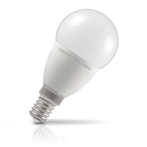 Crompton Lamps LED Golfball 5.5W E14 Cool White Opal (40W Eqv) Image 1