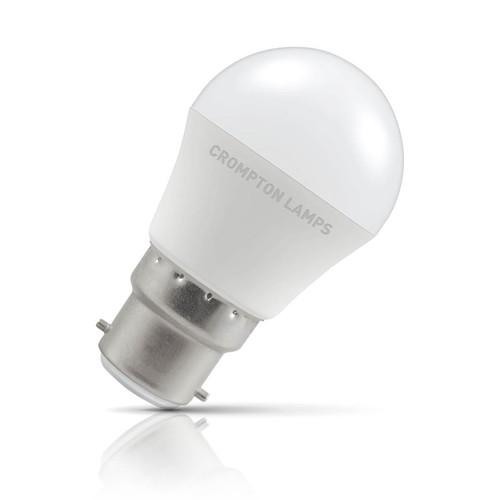 Crompton Lamps LED Golfball 5.5W B22 Daylight Opal (40W Eqv) Image 1
