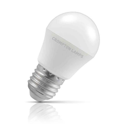 Crompton Lamps LED Golfball 5.5W E27 Daylight Opal (40W Eqv) Image 1