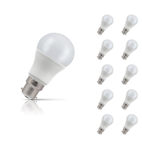 Crompton Lamps LED GLS 5.5W B22 (10 Pack) Warm White Opal (40W Eqv) Image 1