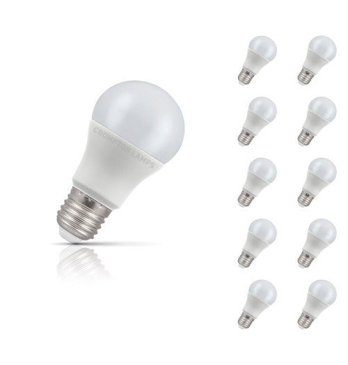 Crompton Lamps LED GLS 8.5W E27 (10 Pack) Warm White Opal (60W Eqv) Image 1