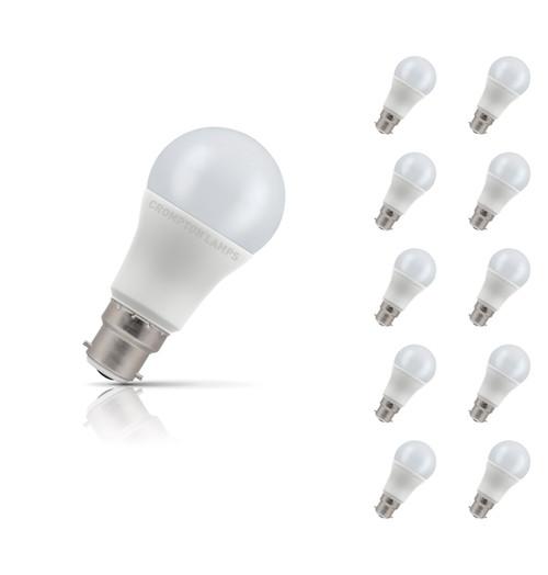 Crompton Lamps LED GLS 11W B22 (10 Pack) Daylight Opal (75W Eqv) Image 1