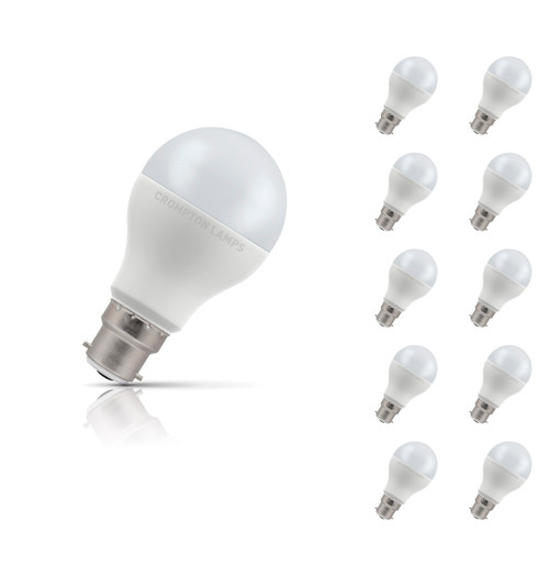 Crompton Lamps Dimmable LED GLS 14W B22 (10 Pack) Warm White Opal (100W Eqv) Image 1