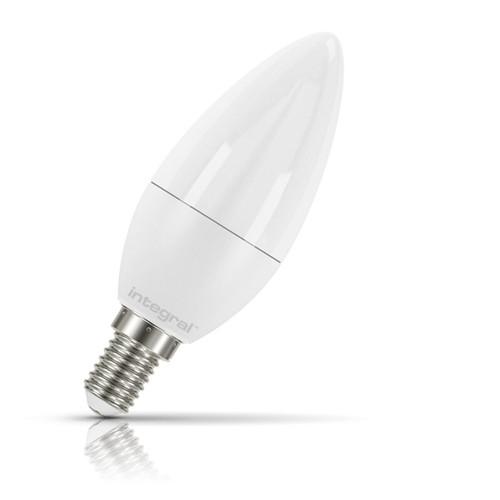 Integral LED Candle 7.5W E14 Warm White Opal Image 1
