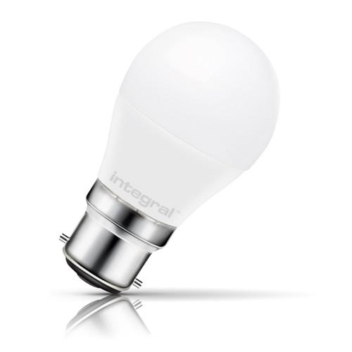 Integral LED Golfball 7.5W B22 Warm White Opal Image 1