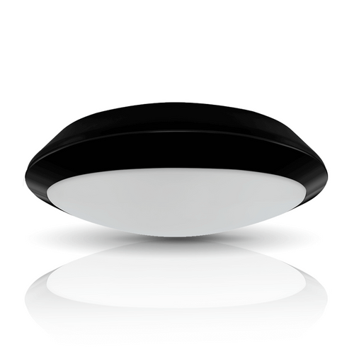 Phoebe LED Bulkhead 10.5W Melana Oval Cool White 100° Diffused Black Image 1