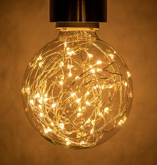 Prolite LED Star Effect Globe 1.7W E27 Funky Filaments Warm White Clear Image 1